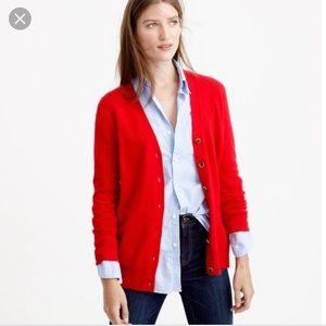 J. Crew merino wool cashmere cardigan sweater xs